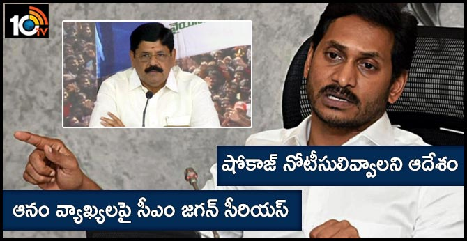 CM jagan Serious On Anam ramnarayana reddy comments