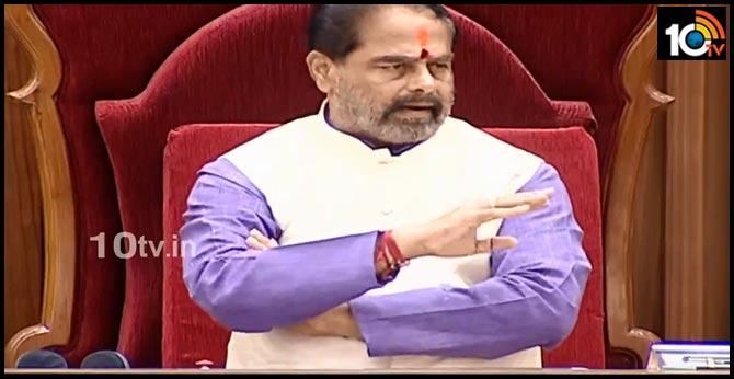 Chandrababu's words are un-parliamentary, says AP Assembly Speaker tammineni seetaram