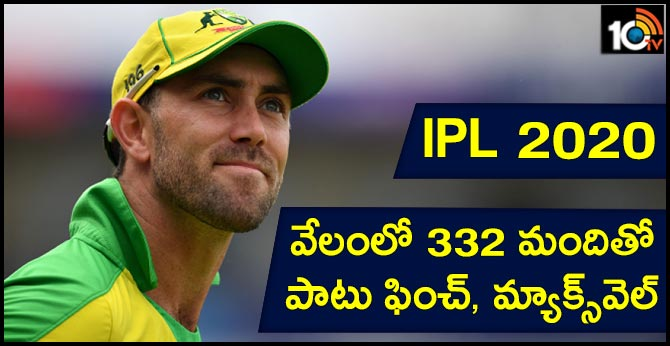 IPL 2020: Glenn Maxwell, Aaron Finch among 332 shortlisted players