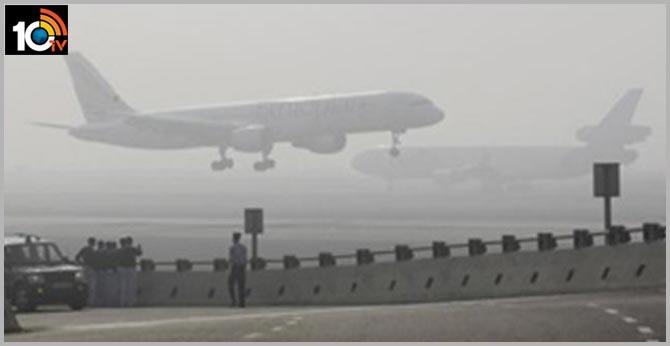 Heavy fog in Delhi Diversion of 46 flights