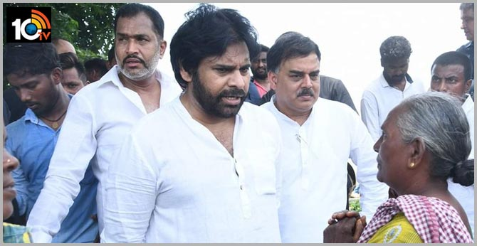 Jana Sena leaders tour In AP Capital