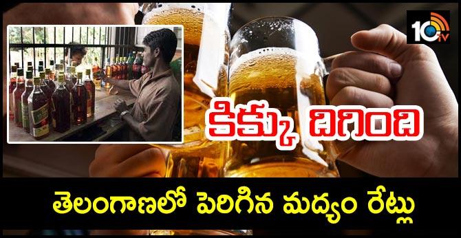 Liquor prices hike 10 per cent in Telangana