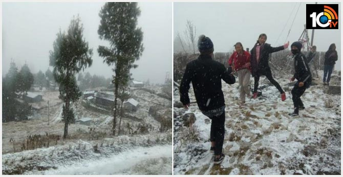 Nagaland receives surprise snowfall