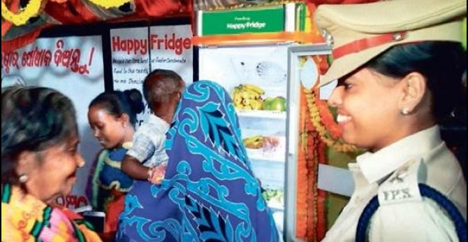 Odisha..'Happy Fridge' installed at a hospital in Gajapati to provide food to those in need
