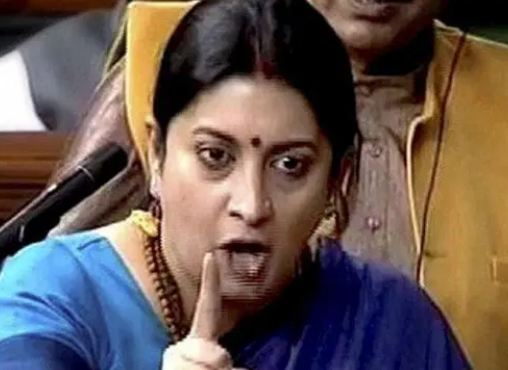 Smriti Irani is Angry opposition Leaders In Parliament
