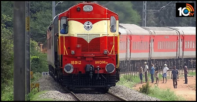 Passenger train colliding with buffalo : encamped Several express trains