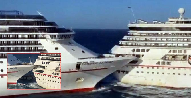 Two Carnival Cruise Ships Crash Into Each Other in Mexico