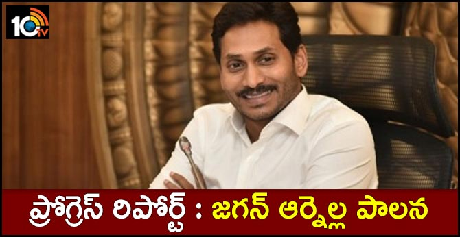 ap cm jagan completed six months administration