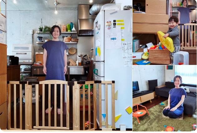 mom tricks son by placing life size cutouts of herself to prevent him from crying