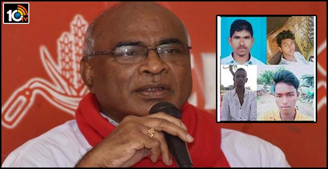 cpi leader Chada Venkat Reddy responds over Counter of disha accused