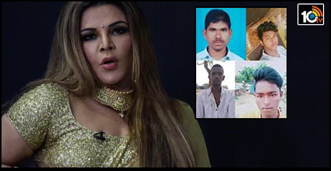 rakhi sawant full happy on disha accused encounter