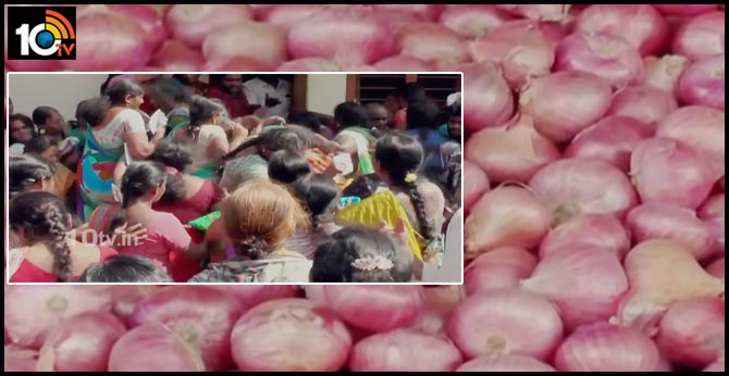 stampede, fight for kilo onions