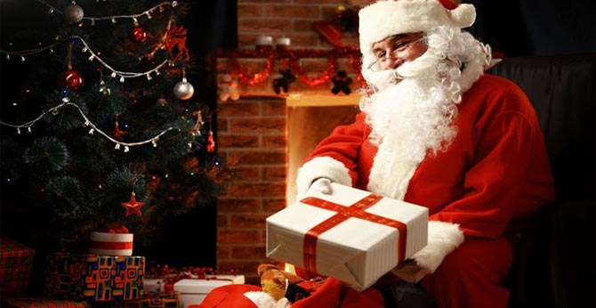 story of Santa Claus, the grandfather of Christmas gift
