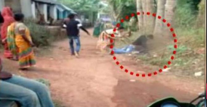 tied to a tree and thrashed mercilessly urinated upon for asking water odisha