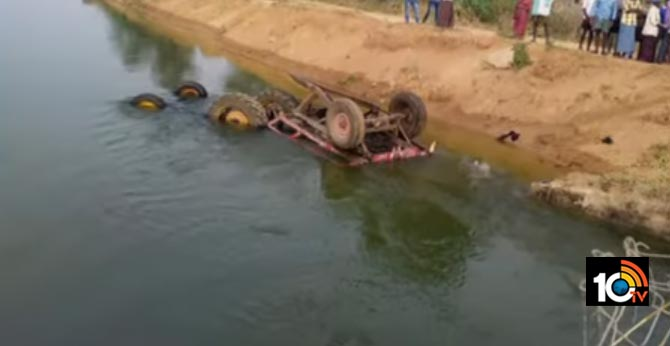 tractor Falling into pond, Two killed