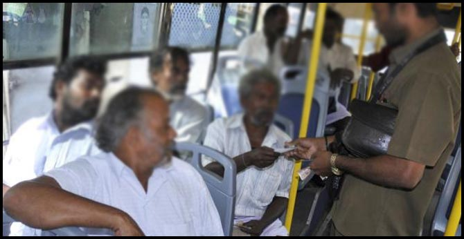 with out ticket rs 500 fine... new rule for rtc passengers