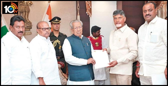 AP Governor meeting with Assembly Speaker and AP Legislative Council Chairman
