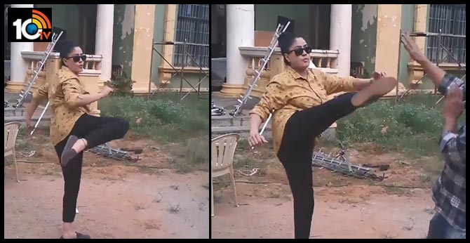 After 13 years.. What a come back  vijayashanthi MASTER KICK