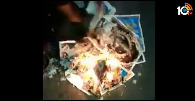 Fact Check: Did anti-CAA protesters burn pics of Hindu Gods? Here's the truth