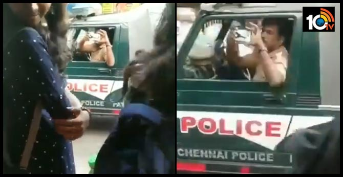Chennai cop recording footage near anti-CAA protest venue triggers fears