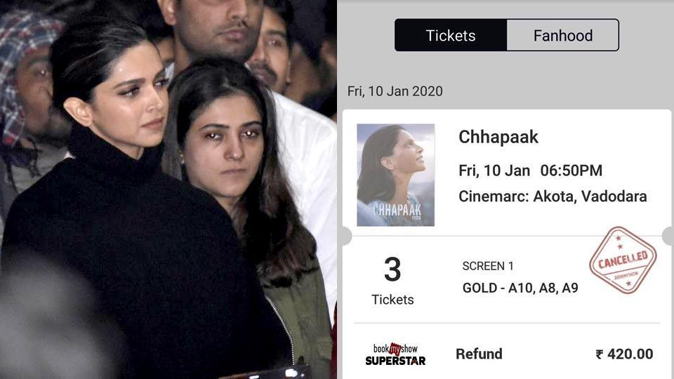 Deepika Padukone's JNU visit: People say they've cancelled Chhapaak tickets