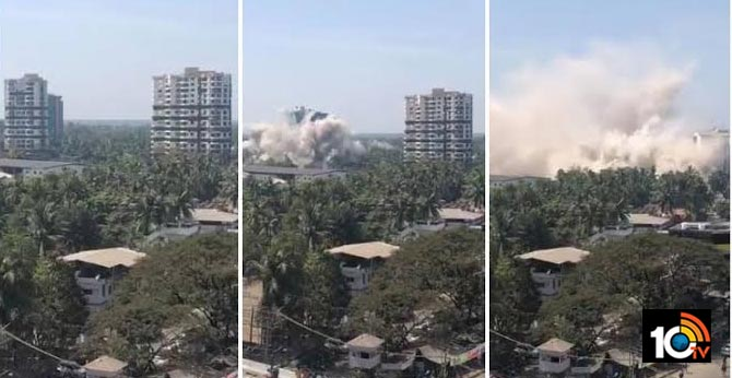 Kochi Luxury Maradu flats demolition