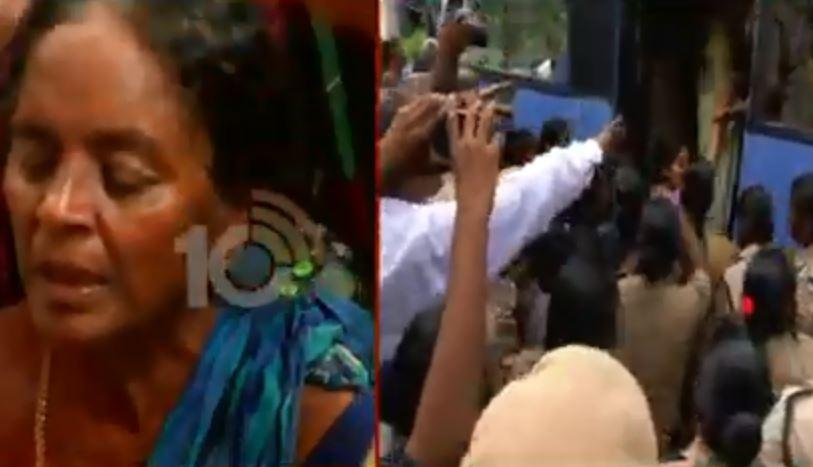 Tension in Amaravati Village Mandadam..Womens arrested