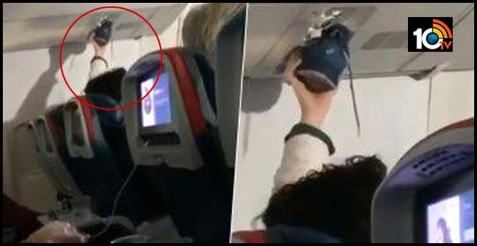 Passenger uses air vent on flight to dry his shoe in viral video. Internet is disgusted