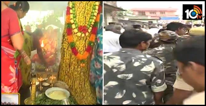 Tension at Poleramma temple in Mandaman Amaravati