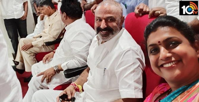 Rk Roja Selfi with Balakrishna