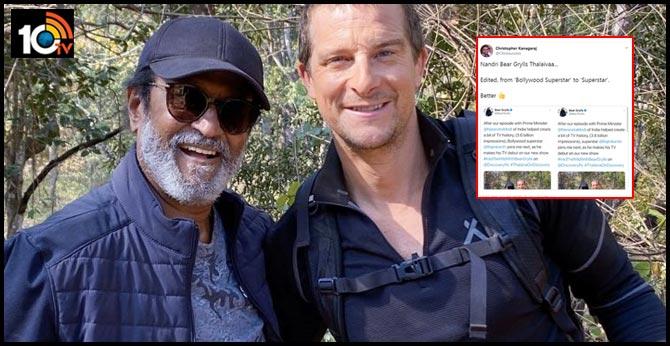 Schooled, Bear Grylls Redoes Tweet Calling Rajinikanth 'Bollywood Superstar'