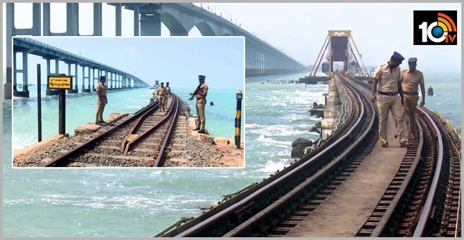 Rameswaram: Security tightened at Pamban rail bridge ahead of Republic Day In TamilNadu