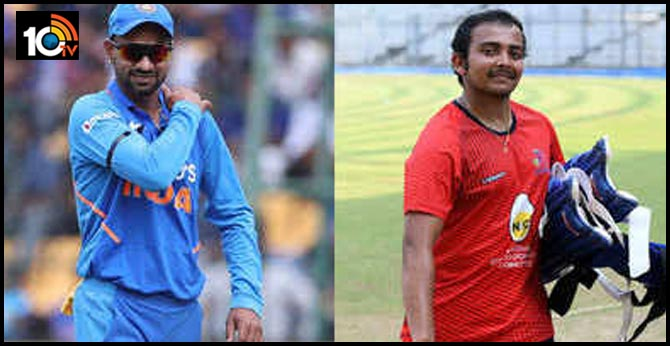 India vs New Zealand: Prithvi Shaw earns ODI call-up, Sanju Samson replaces Shikhar Dhawan in T20Is