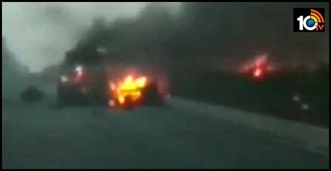 LPG Cylinder Blasts On Surat Highway in Gujarat