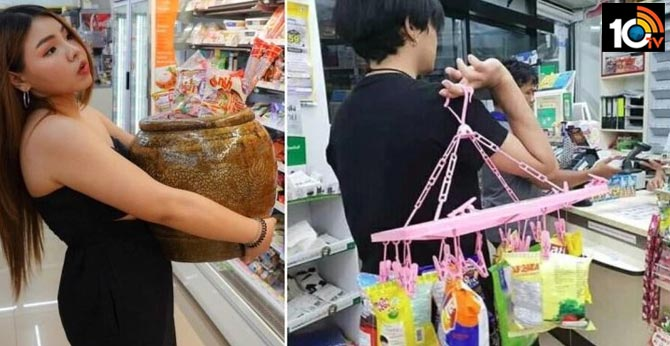 Thailand has banned single-use plastic, and people find innovative ways to carry groceries