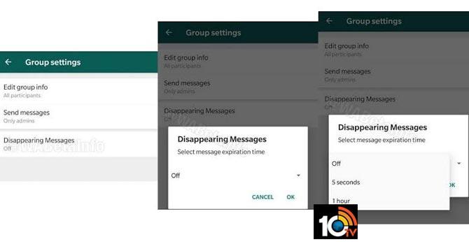 WhatsApp Working On Self Destructing Messages