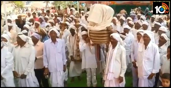 beginning of the Nagoba Jatara of the Adivasis In Adilalabad
