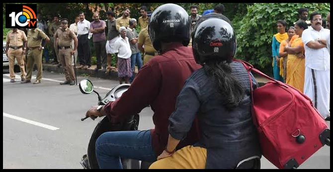 new traffic rule, helmet must for both bike riders