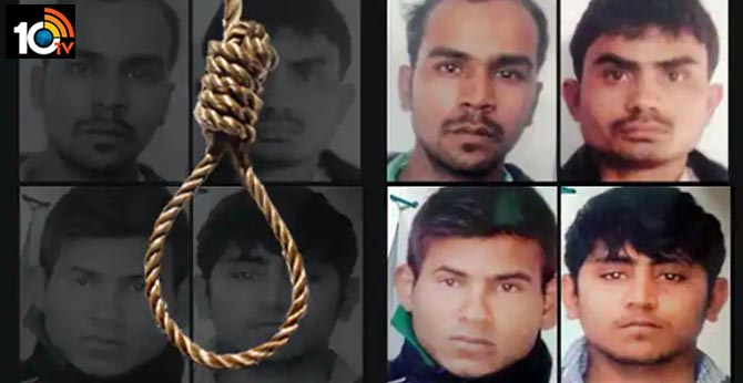 nirbhaya case : death penalty for four convicts at a time in tihar jail