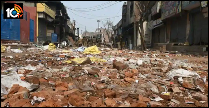 2,000 kg red bricks used to attack cleared from roads in Delhi's riot-hit areas