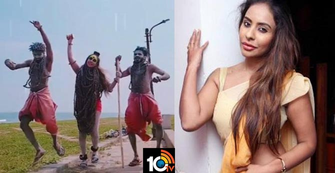 Actres sri reddy in lord shiva getup dance