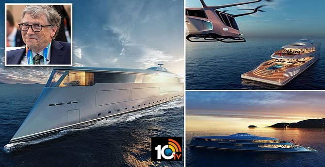 Bill Gates Commissions Massive $645 Million Superyacht Powered By Liquid Hydrogen..Environment ship