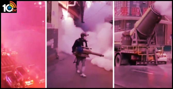 China is spraying Entire city blocks to contain outbreak
