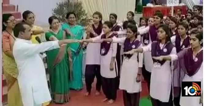Day before Valentine's Day: college girls administered oath against love marriage