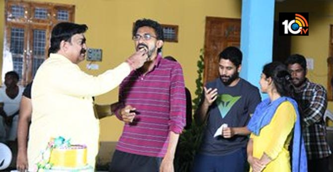 Director Sekhar Kammula Birthday Celebrations at Lovestory sets