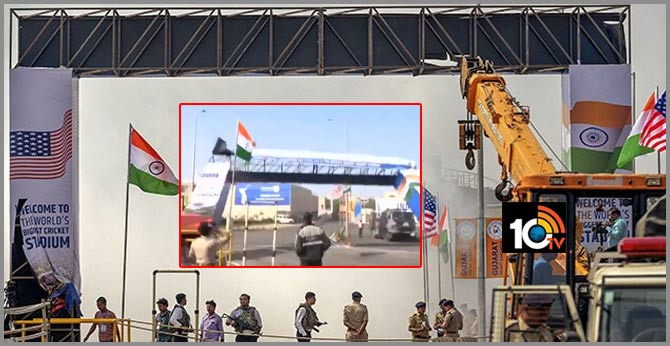 Entry Gate Of Ahmedabad's Motera Stadium Collapses Ahead Of Donald Trump's Visit