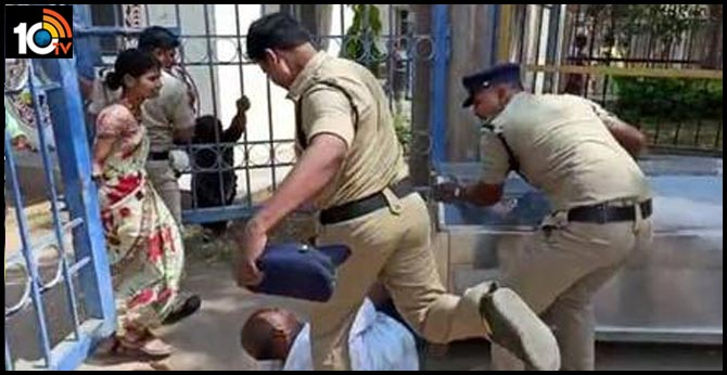 Higher Officials Taken Action Against Police Who kicks suicide victim's father goes viral