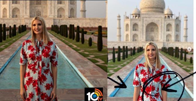 IVanka Trump accused of photoshopping taj mahal photos