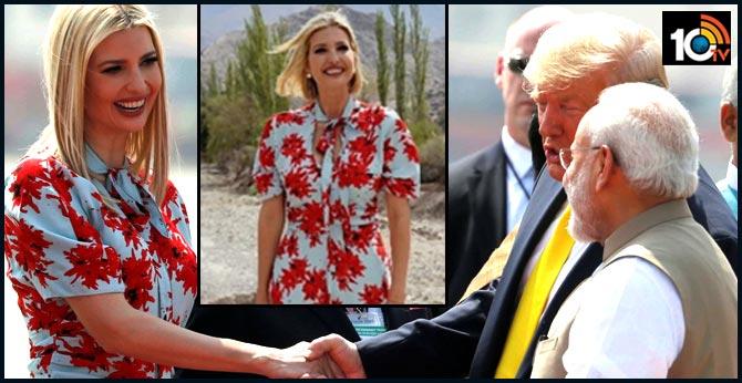 For India visit, Ivanka Trump repeats floral dress