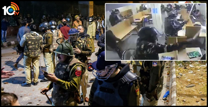 Jamia violence: New CCTV footage shows Delhi Police beating up students in library